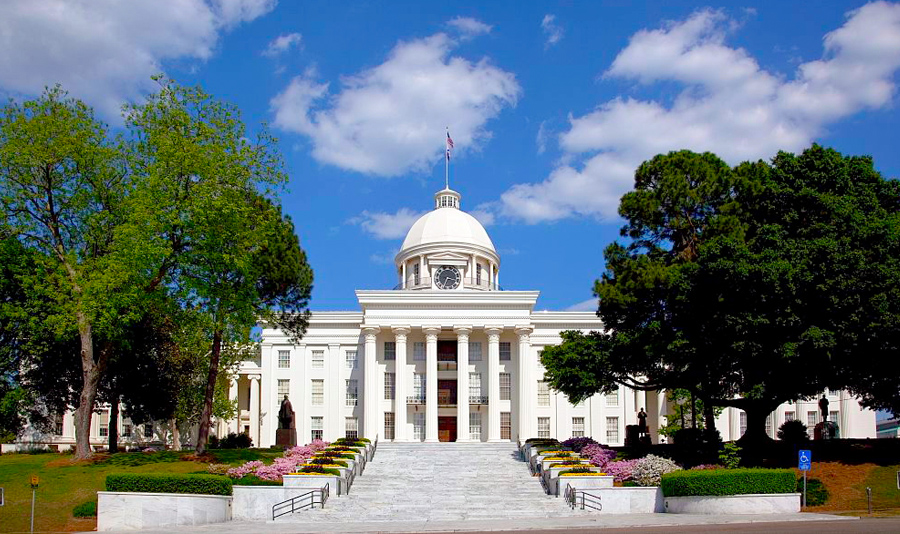 The State Capitol Building in Montgomery, completed in 1851