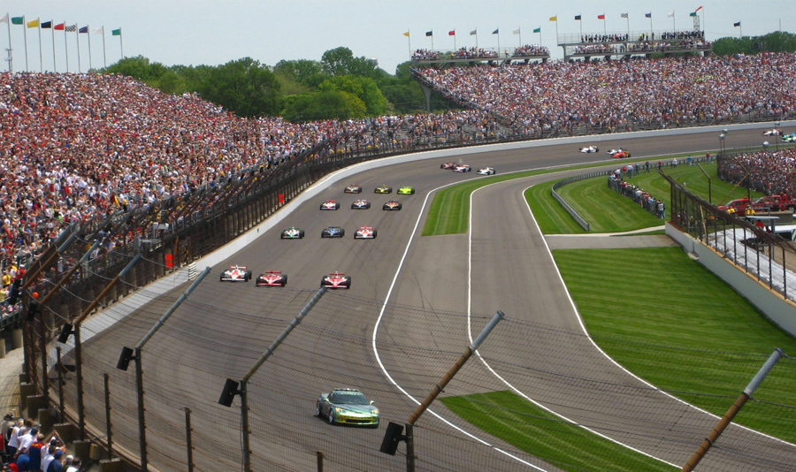 Every May, Indianapolis hosts the Indianapolis 500 mile race, over Memorial Day weekend.