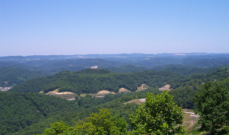 The Eastern Kentucky Coalfield is known for its rugged terrain.