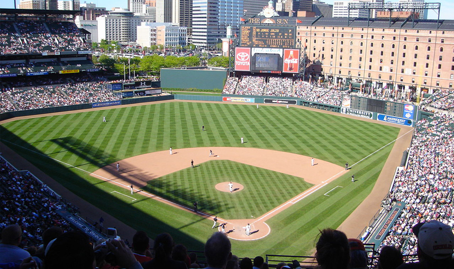 Oriole Park at Camden Yards, home of the Baltimore Orioles