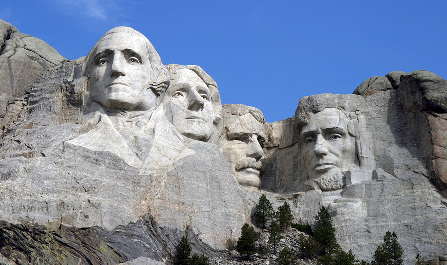 Mount Rushmore in the Black Hills.