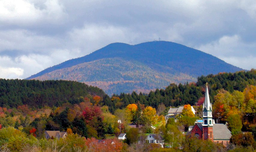 Burke Mountain from Lyndonville—in Vermont's